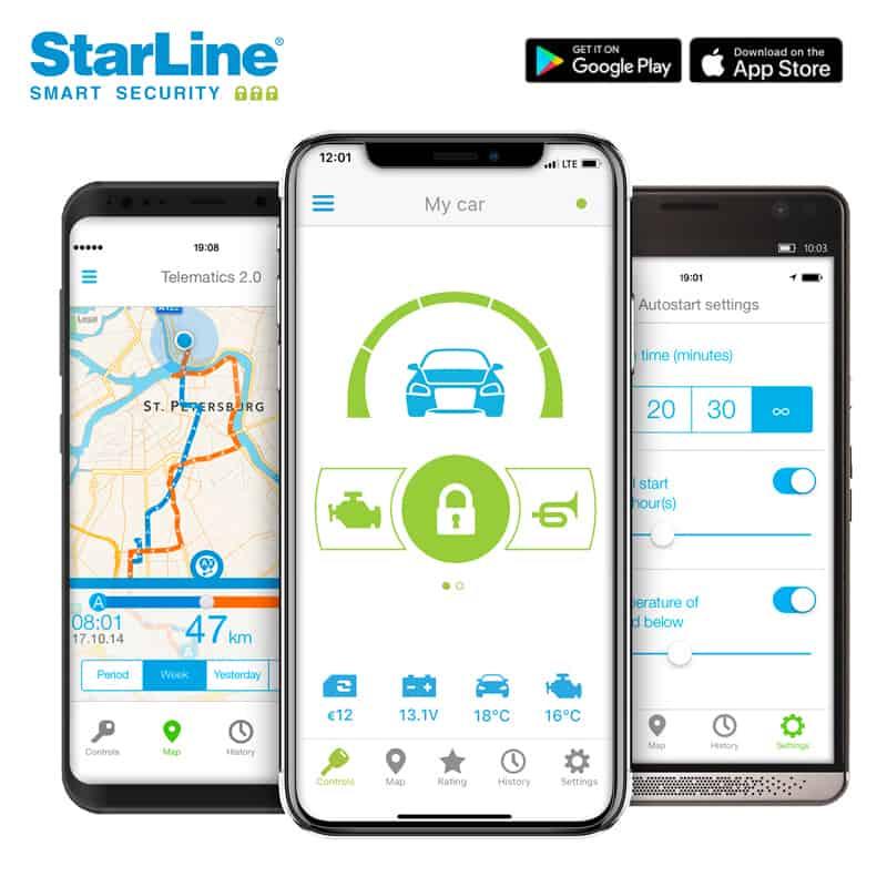 Starline S66-GPS Autoalarm Smartphone App
