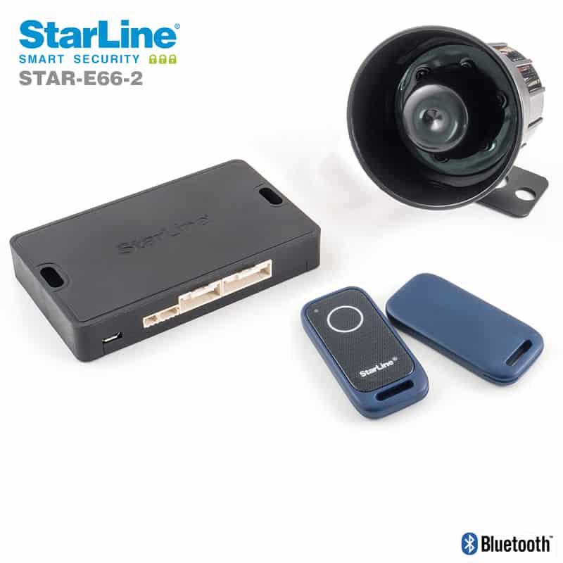 Starline E66-2 mit Bluetooth Tags und Wegfahrsperre Alarmanlage Nachrüstung in Berlin