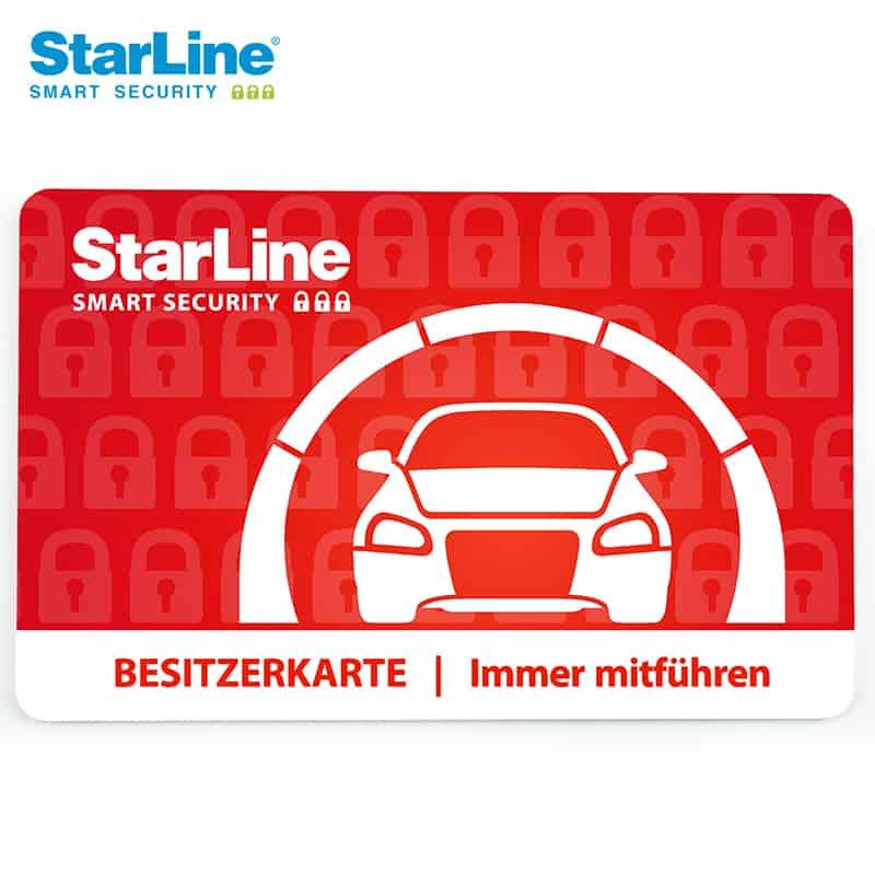 Starline Autoalarm Codekarte