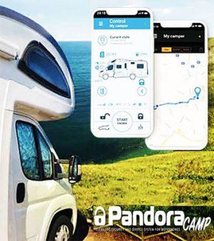 Pandora Camper Alarmanlage mit GPS Ortungssystem Smartphone App Wegfahrsperre