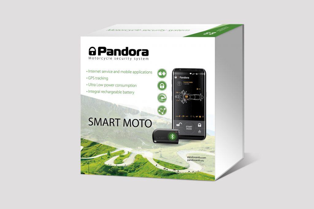 Pandora Smart Moto Motorrad Alarmanlage mit GPS Ortungssystem, Smartphone App und Wegfahrsperre uber die Bluetooth Tags
