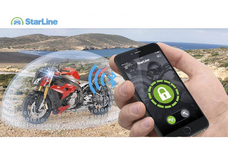 Starline-V66-Motorrad-Alarmanlage-mit-zwei-Bluetooth-TAGs-inkl-Montage-Berlin-Smartphone-App